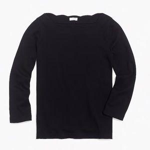 NWT- J. Crew Factory Long-sleeve scalloped T-shirt